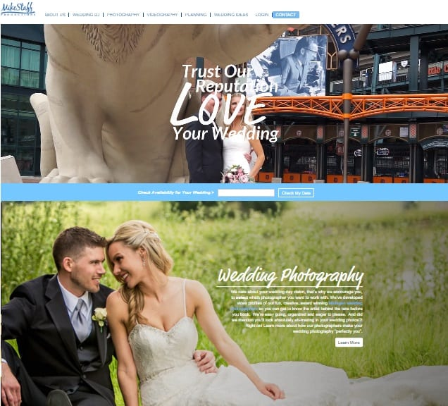photographer marketing website improvement
