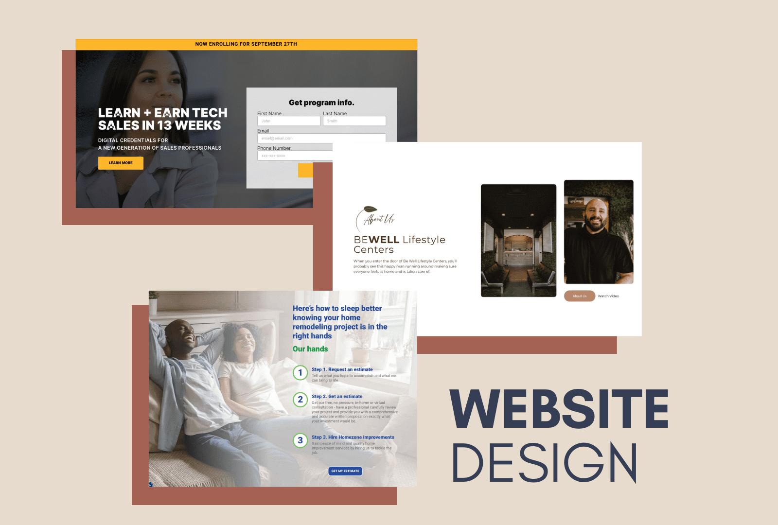 Reference of website design